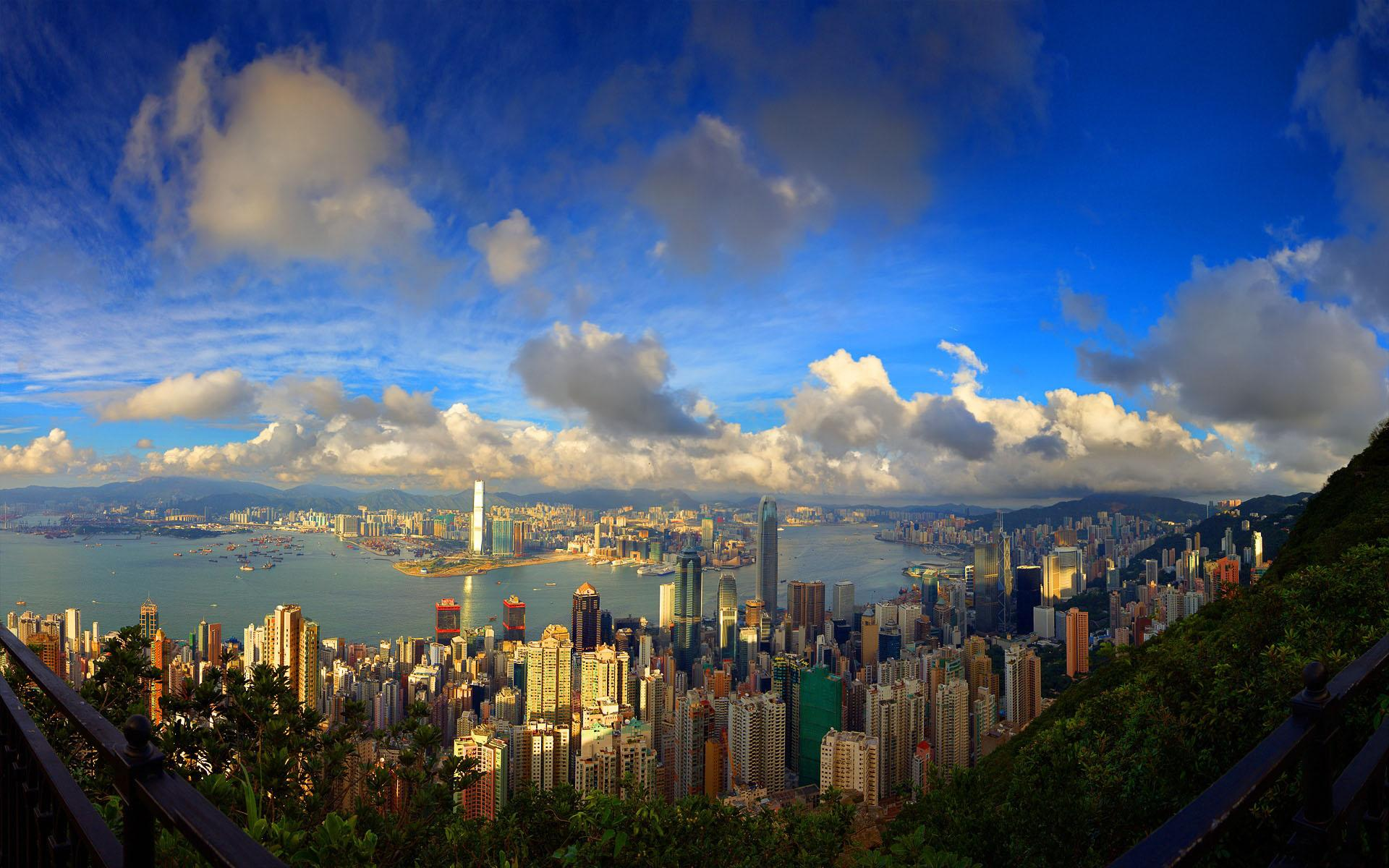 Beautiful Area View Hong Kong Full Hd Desktop Wallpapers