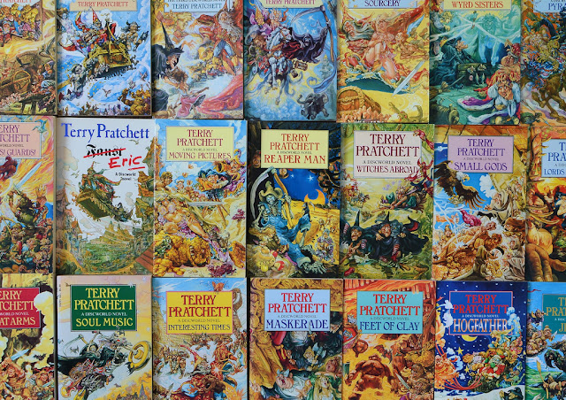 Discworld series book covers