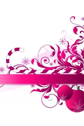 Pink Christmas Iphone Wallpaper