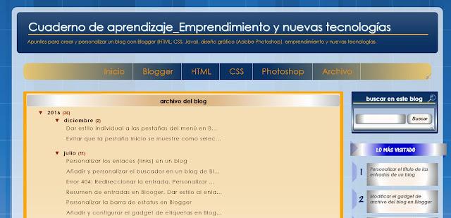 Widget Archivo del blog en una página