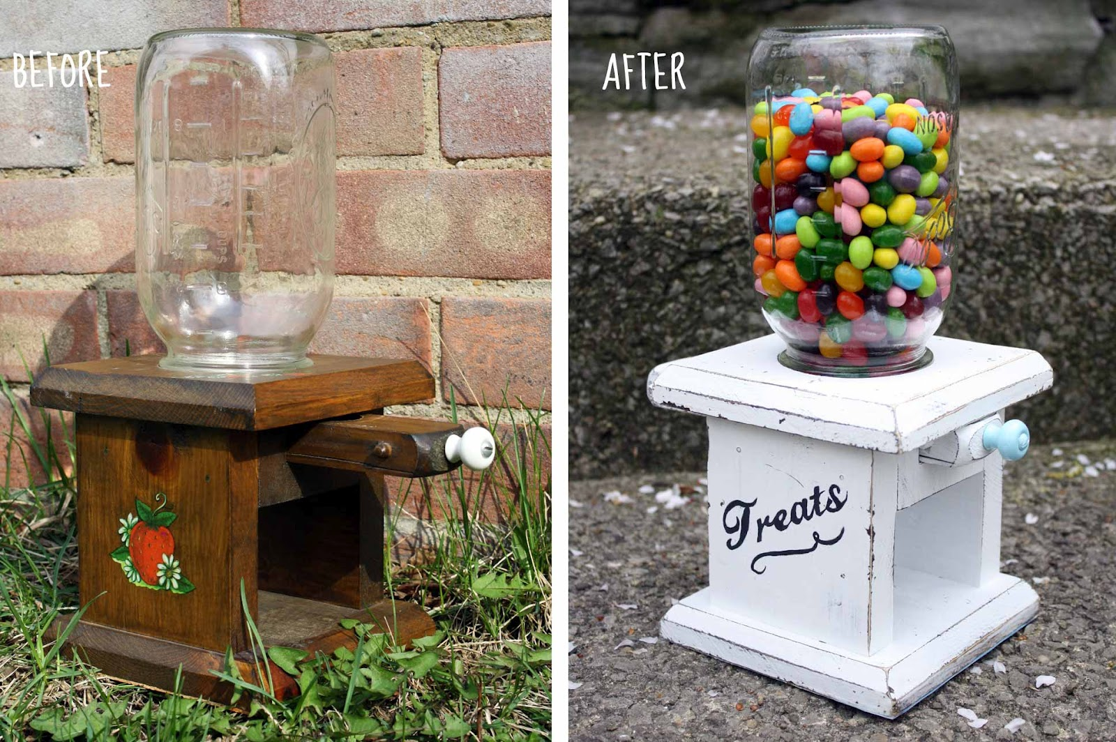 Something To Be Found Candy Jar Makeover
