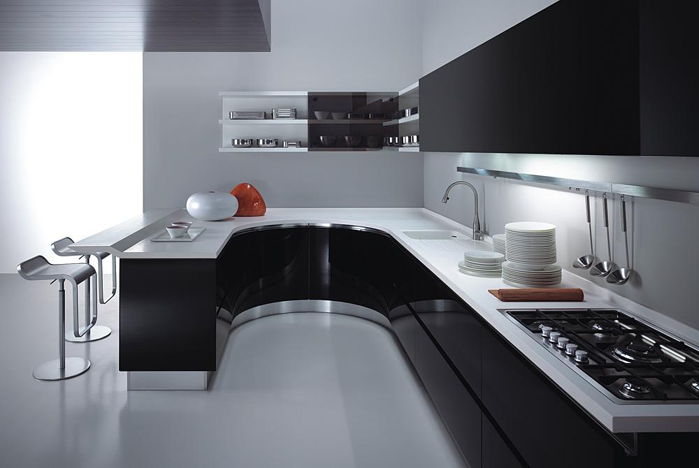 kitchen design in black and white.  Black And White Kitchen Design 2017