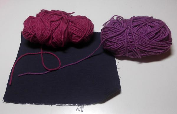 Wool knitting yarn, knitting yarn