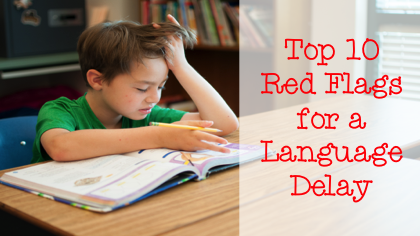 A list by Speech Therapists of the Top 10 Red Flags for Language Delays - great information for teachers