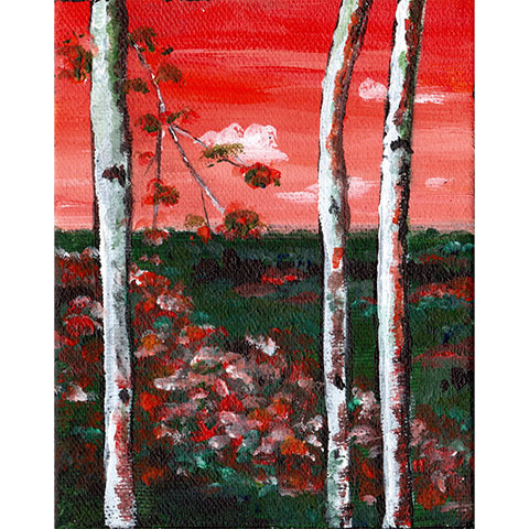 Views through the trees #3- Original painting