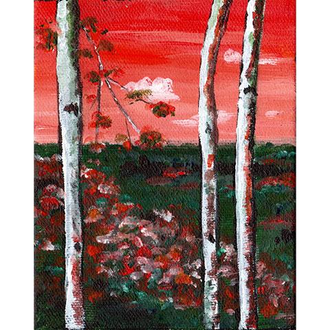 Views through the trees #3- Original painting