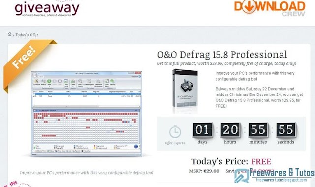 Offre promotionnelle : O & O Defrag 15 Professional Edition gratuit !