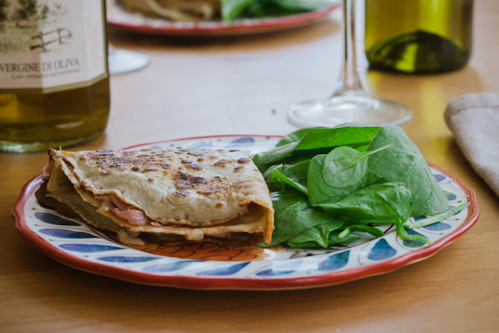 savoury buckwheat crepes