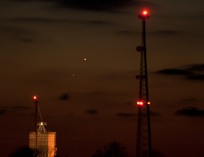 Conjunction of Mars and Mercury, February 8, 2013