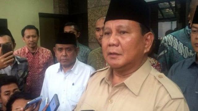 Doa Prabowo bagi Korban Gempa Donggala dan Palu