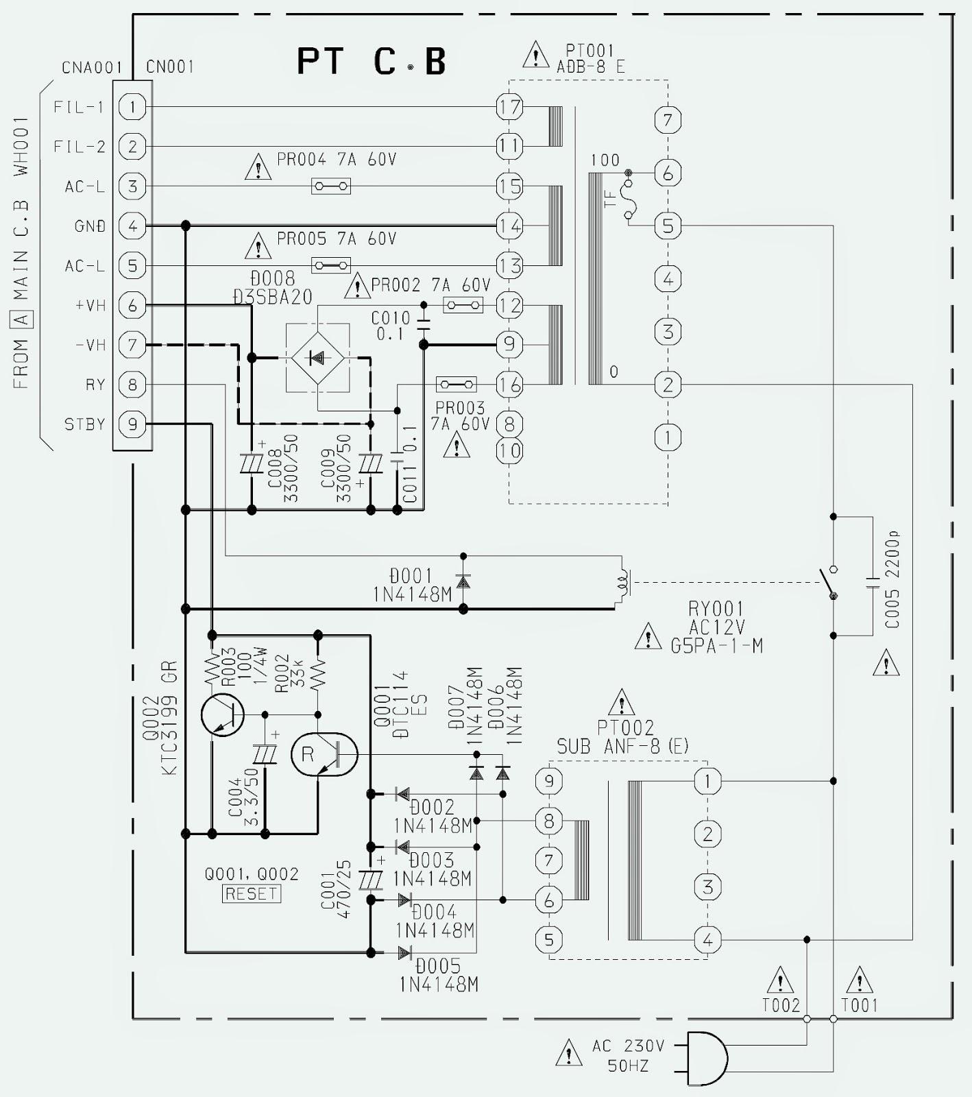 sony aiwa f2100 tv circuit diagram