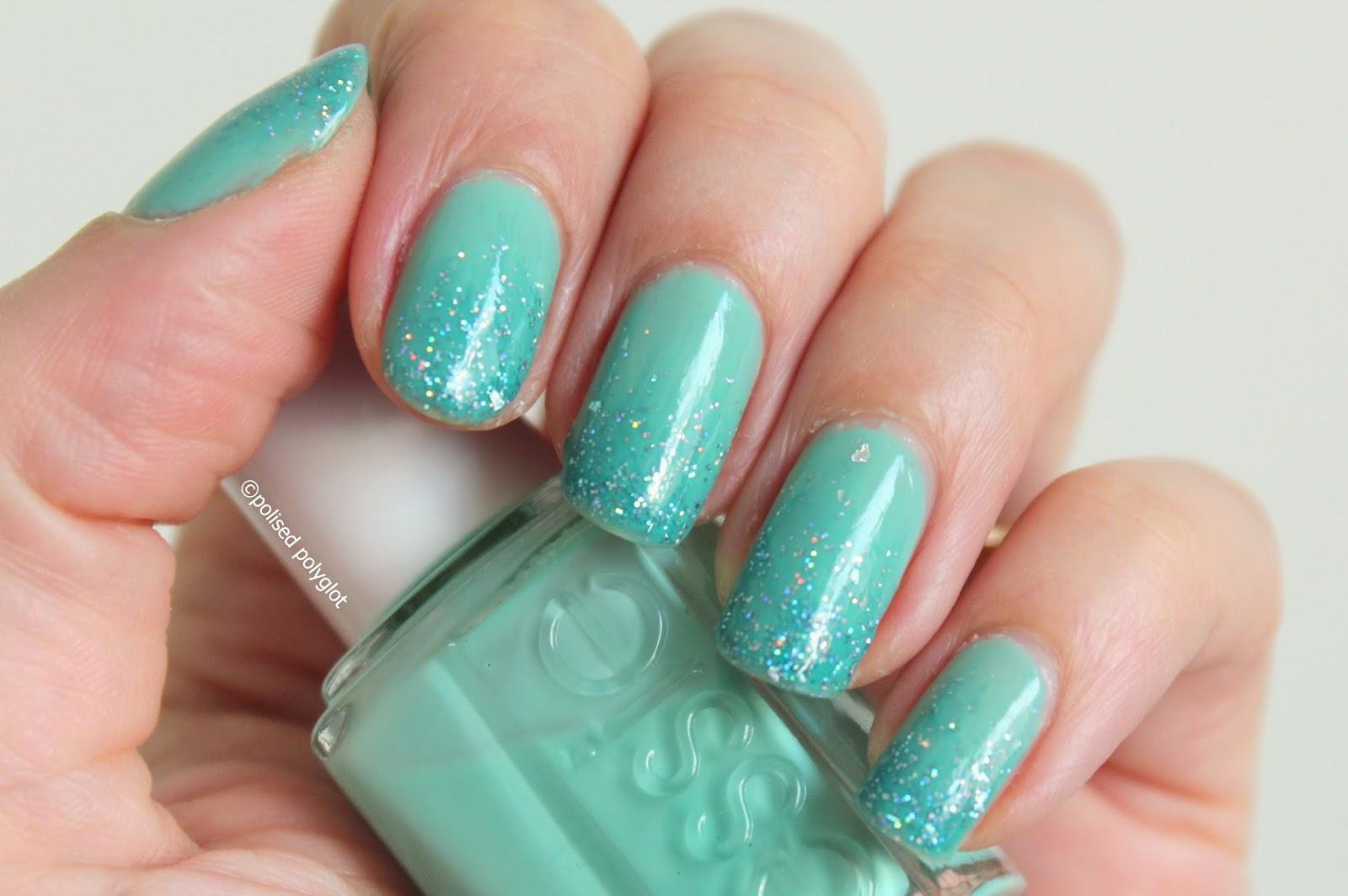 40 Great Nail Art Ideas: Aqua or turquoise / Polished Polyglot