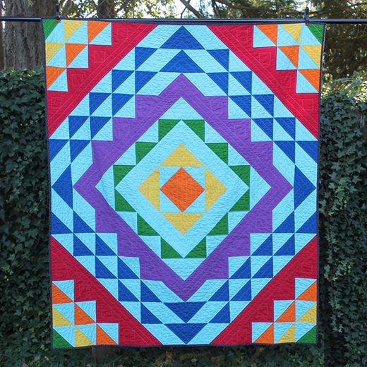 Aloha Ripple Quilt Free Pattern designed by Andrea Smith of Happy Cloud Creations