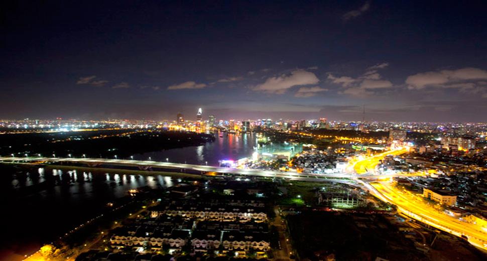 View sông Sài Gòn - Căn hộ Sun Wah Pearl