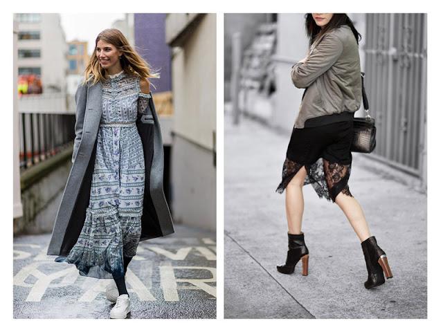 Платье с кроссовками и с бомбером