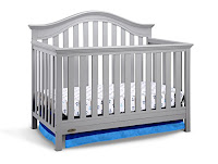 Graco Bryson 4-in-1 Convertible Crib, Pebble Gray