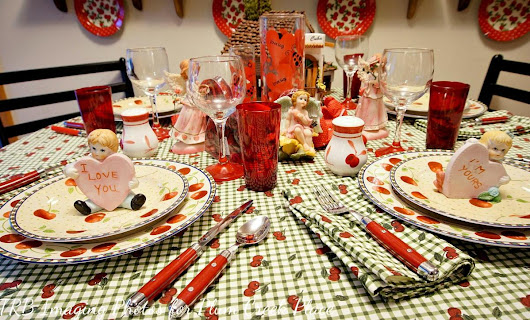 A Cheery Cherry Valentines Day Tablescape