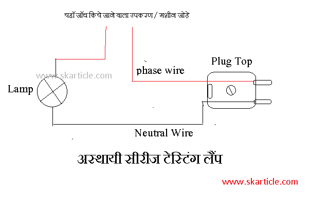 test lamp diagram