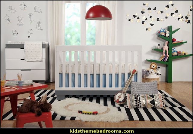 modern baby  baby bedrooms - nursery decorating ideas - girls nursery - boys nursery - baby bedding - themed baby bedrooms - theme ideas for baby nursery - baby rooms - baby bedroom theme ideas - themed nursery decorating ideas