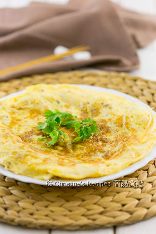 Pork & Bean Sprout Omelette01