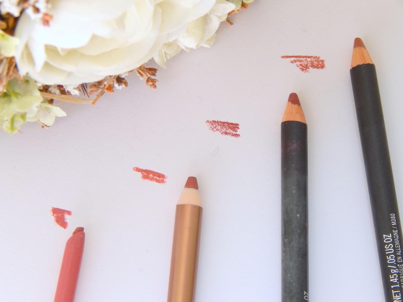 Nude Lip Liners - Mac, Charlotte Tilbury, Rimmel