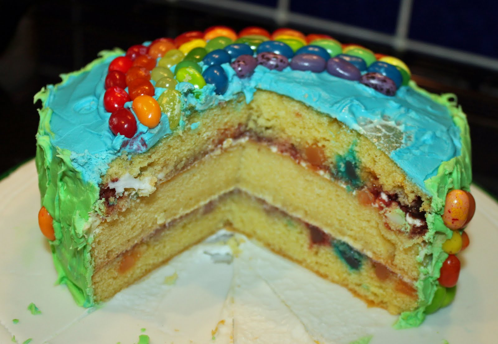 Cake Recipe Jelly Beans: Snowballs In Summer: Jelly Belly Jelly Bean Rainbow Cake