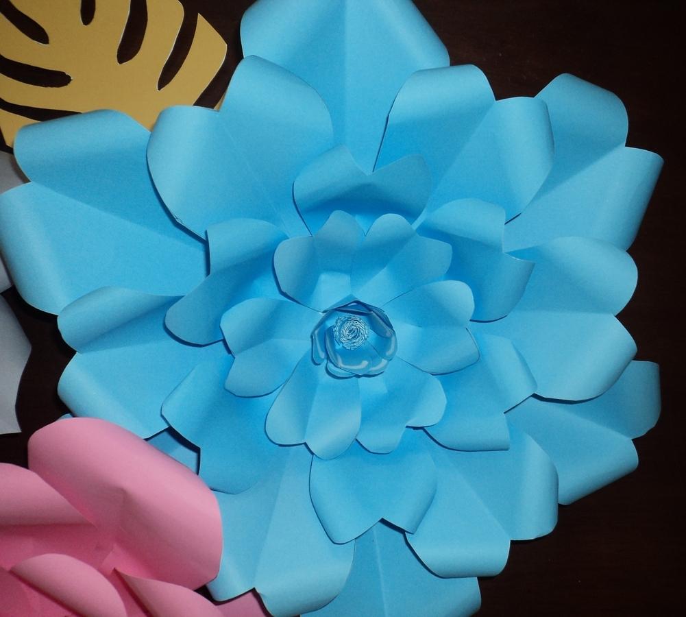 Tutorial De Artesanias Flores Gigantes En Cartulina