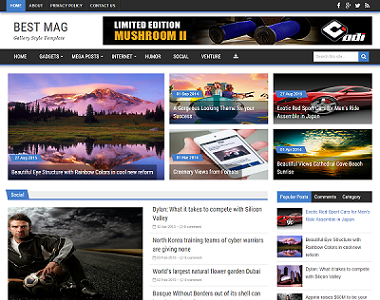 Best Mag is a premium looking magazine style theme which consist of 35+ articles on homepage.