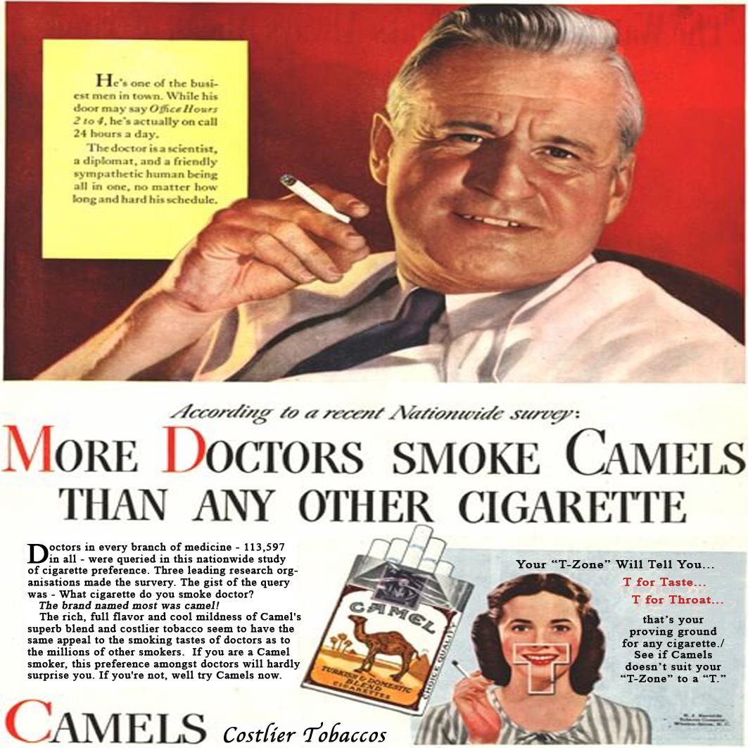 Doctos smoke Camels poster