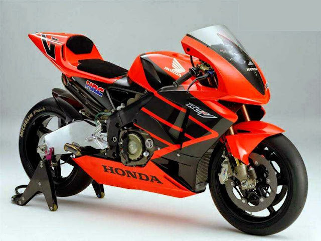 Gambar Motor Balap Honda Racing Team warna orange