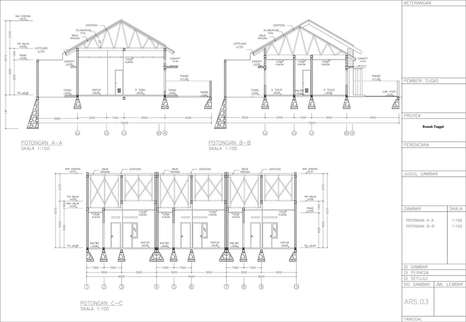 Rab Rumah Jasa Pembuatan Site Plan
