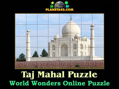 Taj Mahal Online Puzzle