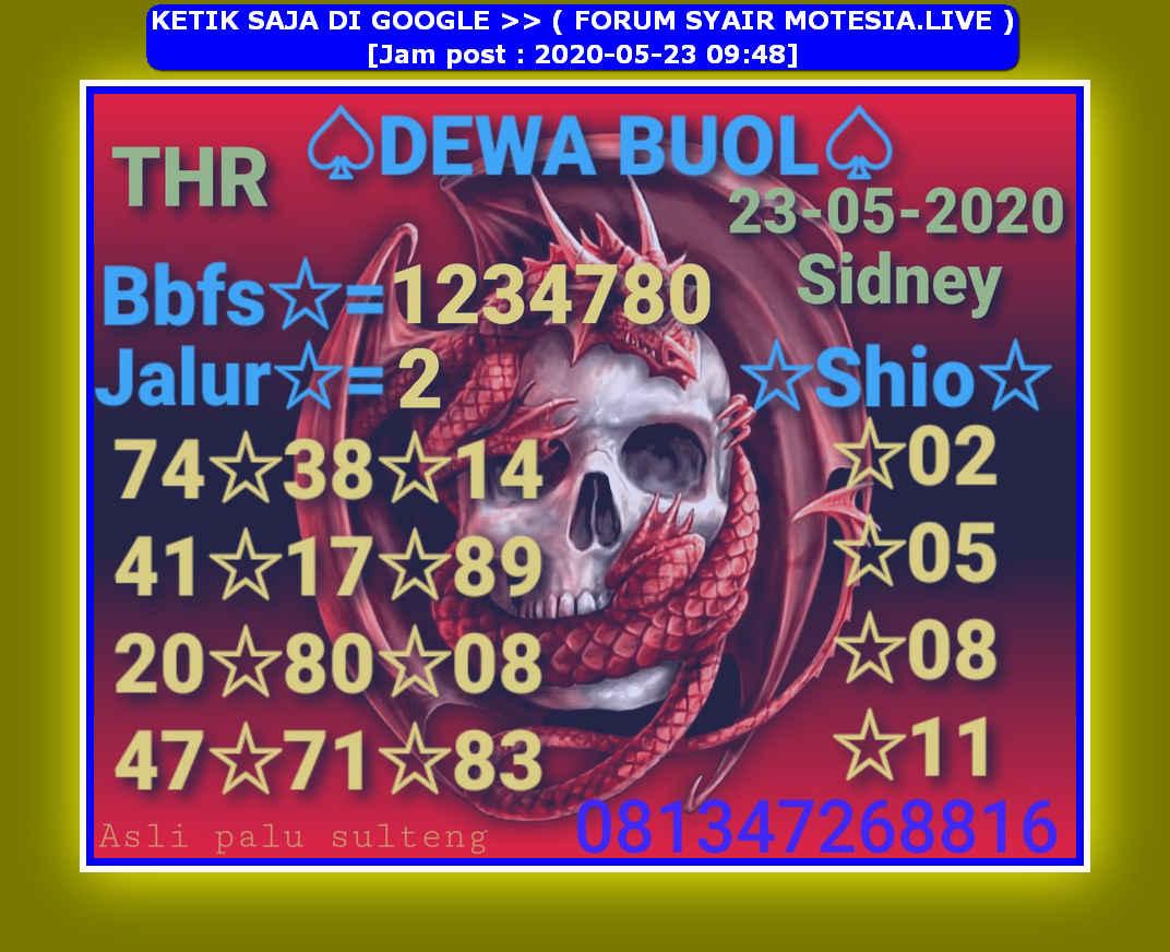 Kode syair Sydney Sabtu 23 Mei 2020 42
