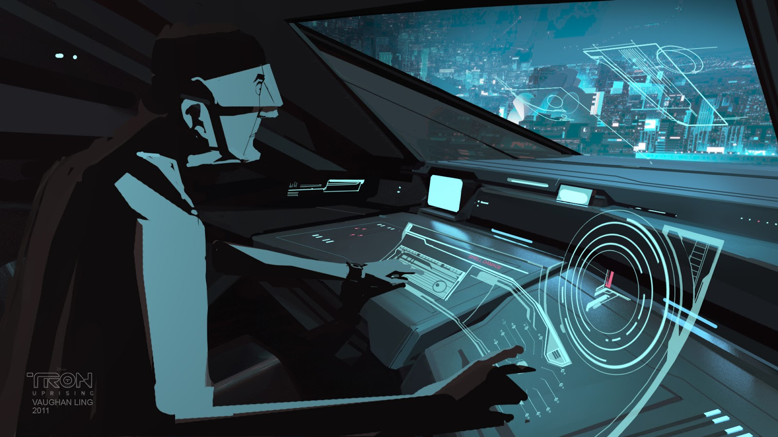 tron concept uprising ling vehicle background vaughan coke boys disney designs studio archive animation moar