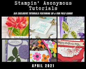 APRIL STAMPIN'ANONYMOUS TUTORIALS