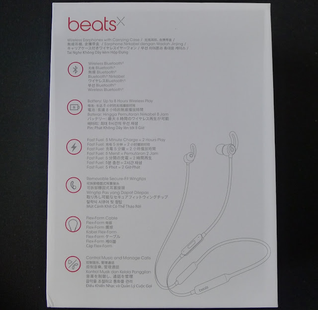 BeatsX neckband headphones - Packaging
