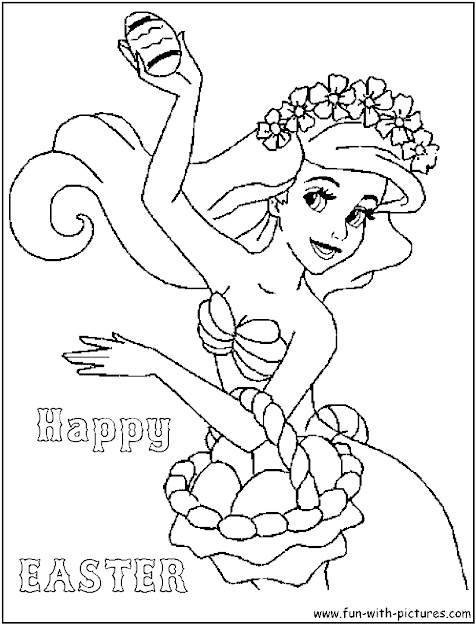 Crafts Coloring Pages Fun Pictures Ariel Easter Coloring Page  Disney  Princess