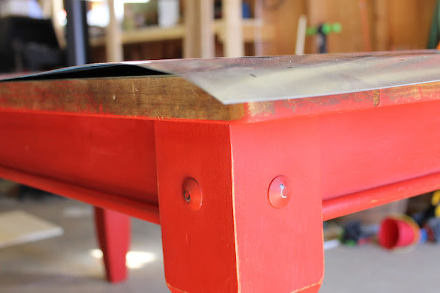 Vanhook Amp Co Topping A Table With Zinc Sheet Metal