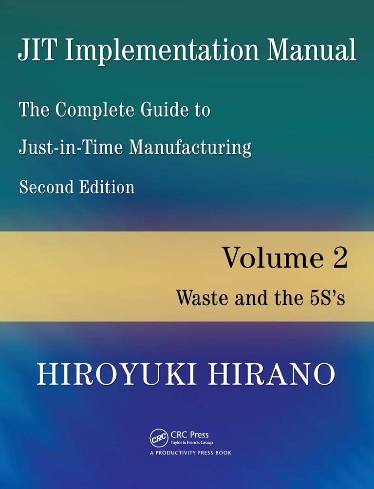 JIT Implementation Manual, volume 2 – Hiroyuki Hirano