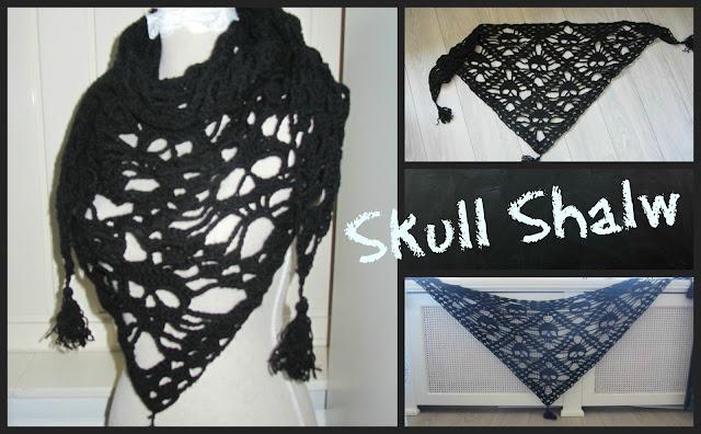 Dinah Creatief Doodskopsjaal Skull Shawl