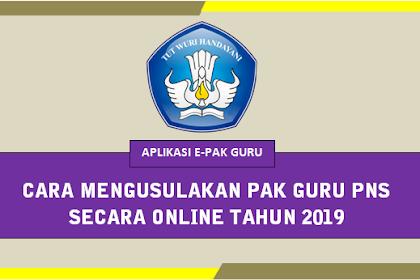 Cara Mengusulkan PAK Guru PNS secara online E-PAKGuru Dikdas tahun 2019
