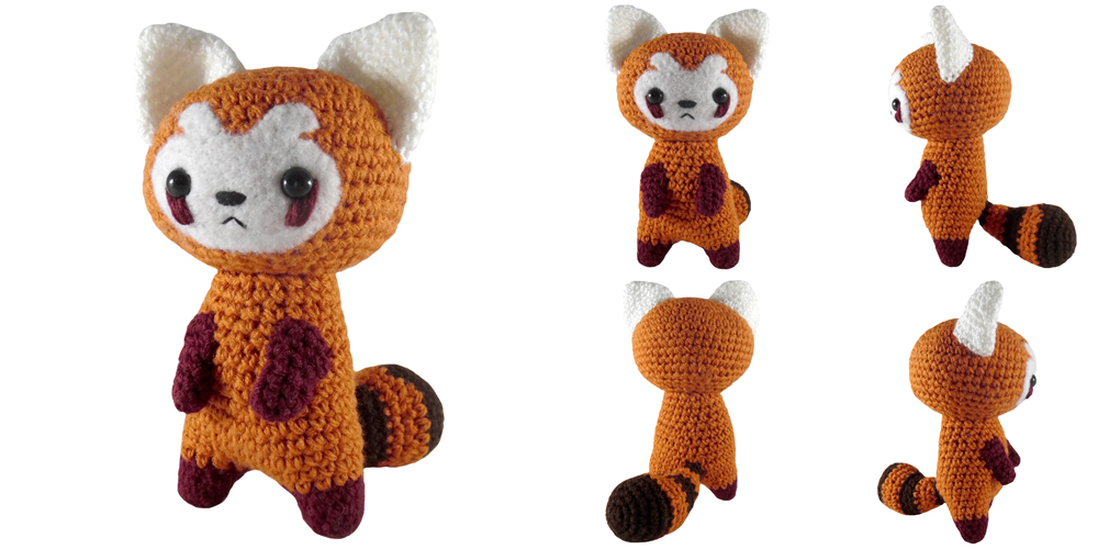Amigurumi Panda Ohje : i crochet things: Pattern: Red Panda Amigurumi