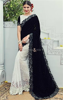 Latest Trendy Half and half Saree