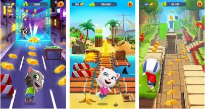 Game Arcade Offline Ringan Talking Tom Gold Run MOD APK
