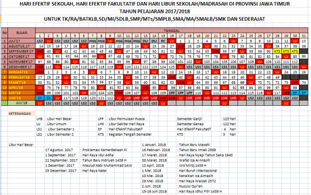 Kalender Pendidikan Tahun Pelajaran 2020 2020 Provinsi Jawa Timur Idn Paperplane