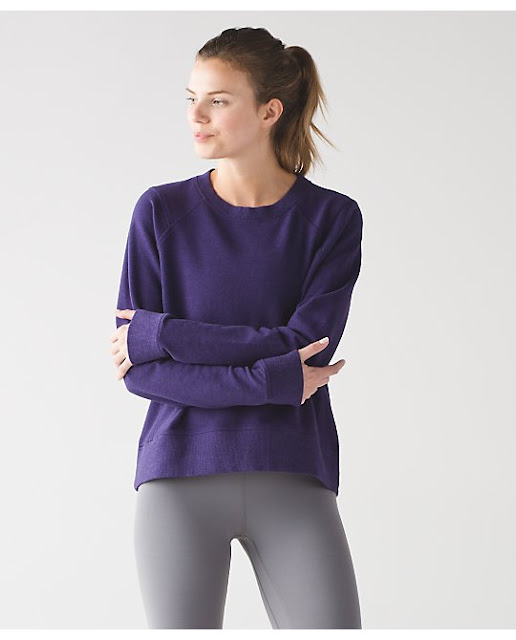 lululemon split-ls black-grape