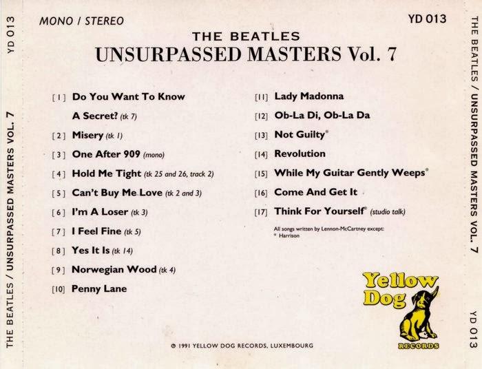 Rock Rare Records: The Beatles - Unsurpassed Masters vol 7
