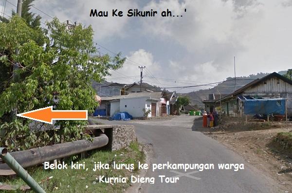 jalan menuju bukit sikunir dieng