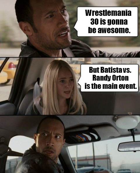 Knuckle Shuffle Power Wwe Meme The Rock Thinks Wrestlemania 30