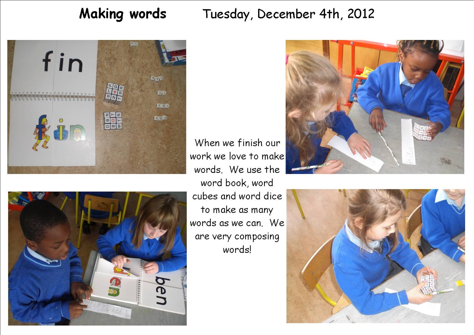 Literacy Site Making Words